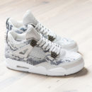 Air Jordan 4 Premium Snakeskin Light Bone