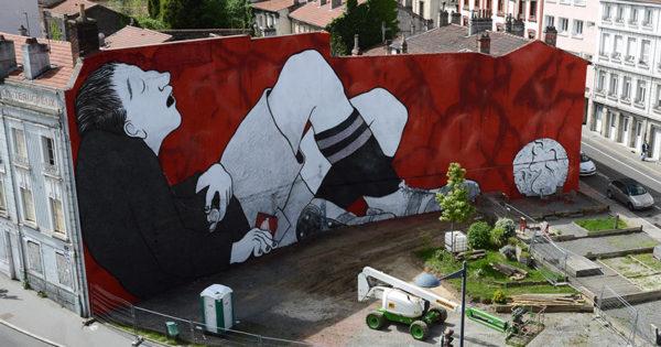 Nouvelle Oeuvre Street-Art du duo Ella Pitr à Saint-Etienne