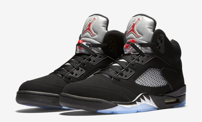 AIR JORDAN 5 RETRO METALLIC SILVER 2016 845035-003