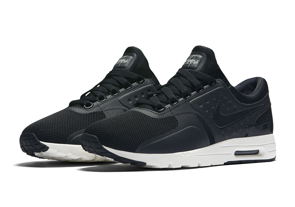 nike air max zero black and white