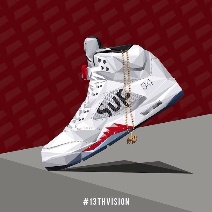 illustration-sneakers-air-jordan-v-supreme