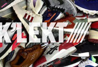 "presented by klekt ""The Sneaker Marketplace"""