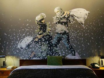 Banksy Hotel Walled Off Bethlehem Cisjordanie