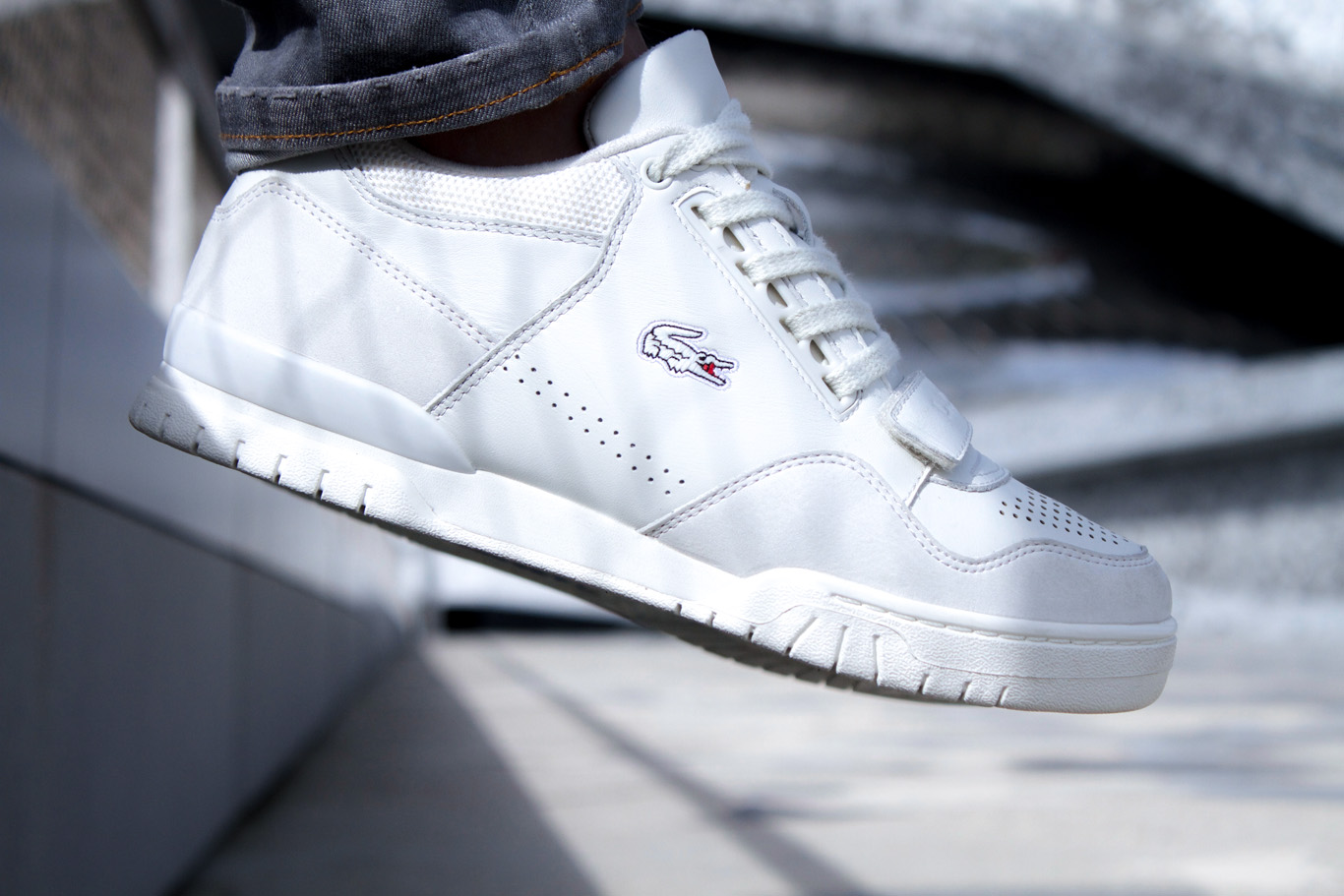 Basket Lacoste Missouri G117 1 LEATHER WHITE