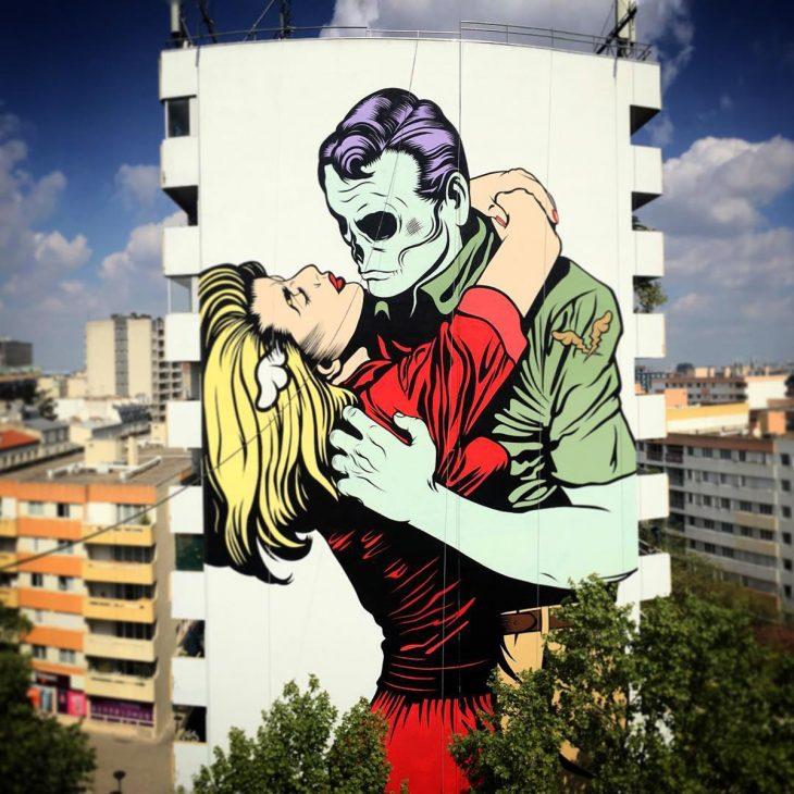 D FACE Fresque Street Art Paris 13