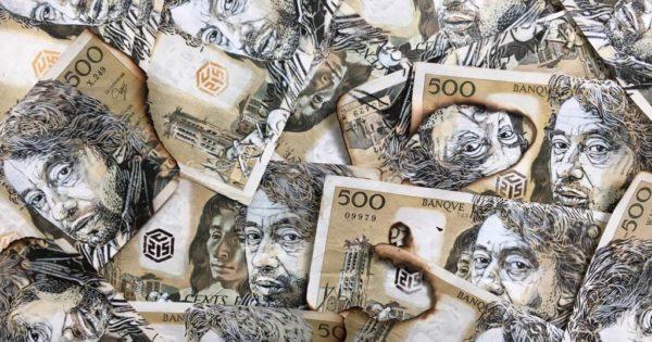 Pochoir C215 Gainsbourg Billet 500 francs