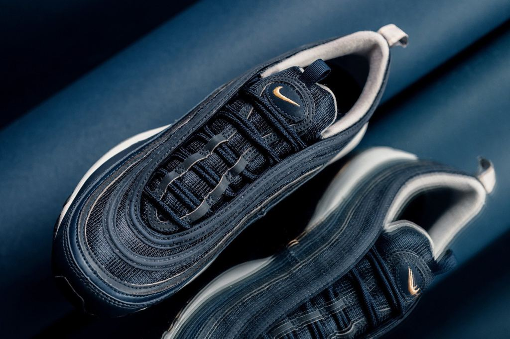 Nike Air Max 97 Midnight Navy Gold 921826_400