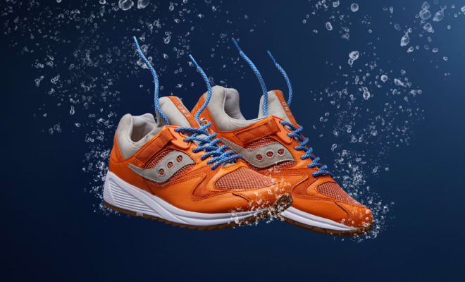 End x Saucony Grid 8500 Lobster