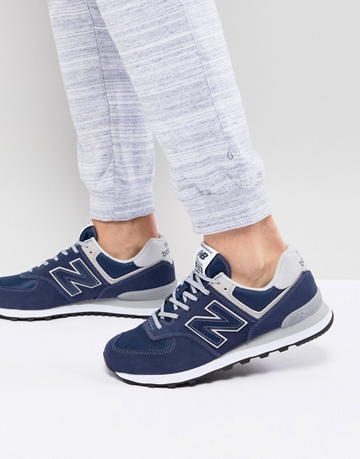 New Balance - 574 - Baskets - Bleu marine ML574EGN