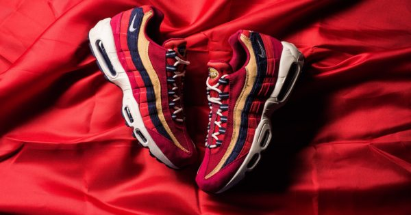 Nike Air Max 95 premium Red Crush Wheat Gold