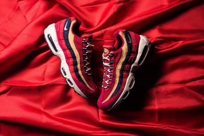 Nike Air Max 95 premium Red Crush Wheat Gold