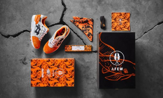 Afew x BEAMS x Asics Tiger Gel Lyte 3 Orange Koi