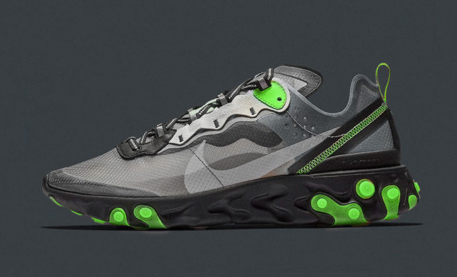 Sneakers NIke React Element 87 NEON