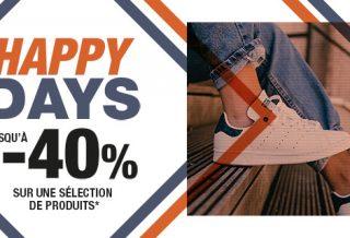 Bons plans Courir : les HAPPY DAYS c'est jusqu'à -40% de réduction