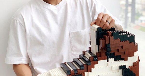 Lego Sneakers by Tom Yoo Air Jordan 1 Travis Scott