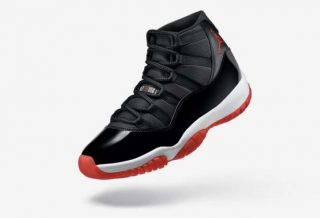 "Air Jordan 11 ""Bred"" Black/Red 378037-061"