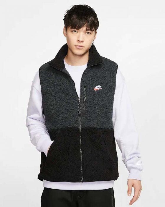 Veste-sans-manches-en-tissu-Fleece-sherpa-pour-Homme-Nike-Sportswear