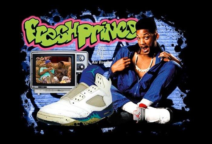 """Les Nike Air Jordan 5 """"Grape"""" de Will Smith dans la série Le Prince de Bel-Air"""