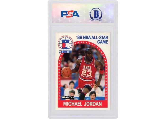 Carte à collection Michael Jordan 1989 Hoops All Star 21 Frame