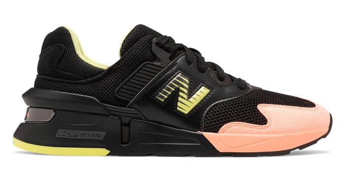 New Balance 997Sport Black with Ginger Pink