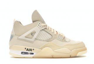 "Off-White Jordan 4 ""Sail"", la sneakers féminine la plus chère en resell"